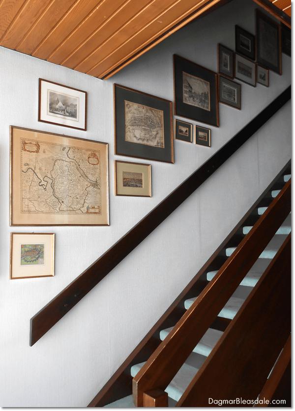 Antique collections, framed antique maps, DagmarBleasdale.com