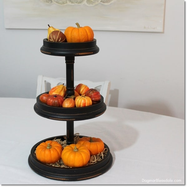 tiered wooden stand