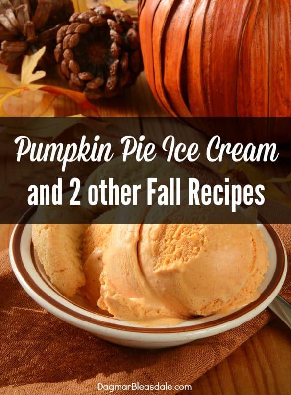 pumpkin ice cream, DagmarBleasdale.com