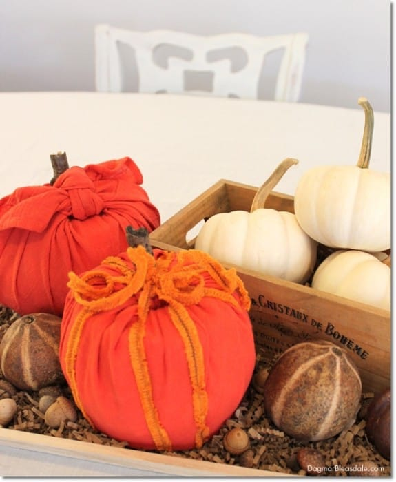 recycling hacks, DIY toilet paper roll pumpkin, DagmarBleasdale.com