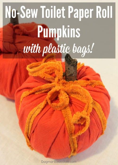 toilet paper roll pumpkin, DagmarBleasdale.com