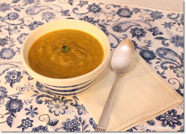 Roasted Broccoli Rabe and Sweet Potato Soup