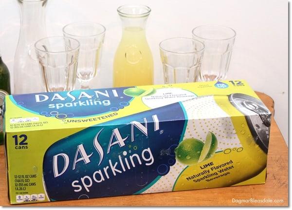 DASANI sparkling water, pineapple radler spritzer drink, DagmarBleasdale.com