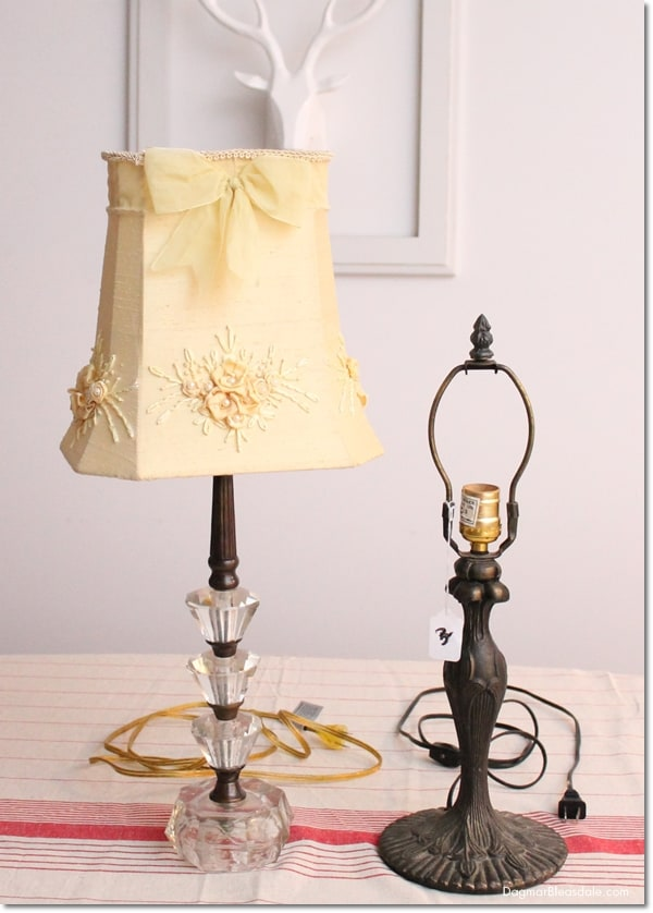 """Thrifty & Vintage Finds"" Link Party #96 — The Ugliest Lamp Ever"