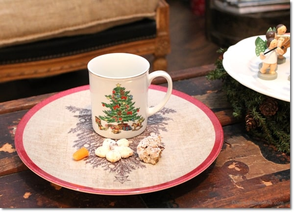 milk and cookies for Santa, Christmas at the Blue Cottage