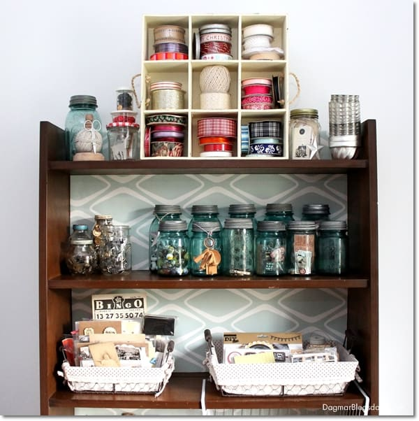 freebie craft room shelf, DagmarBleasdale.com