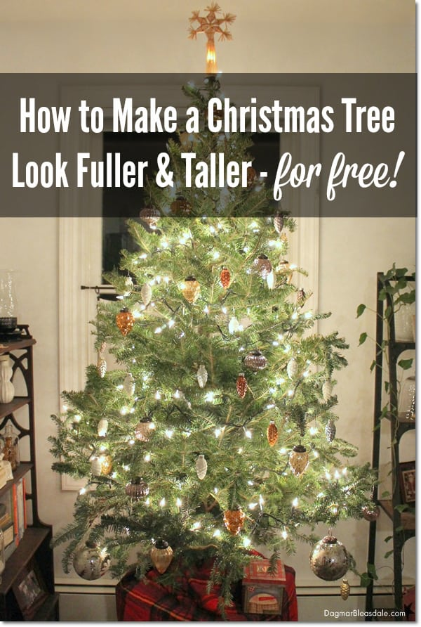 make a Christmas tree look fuller, DagmarBleasdale.com