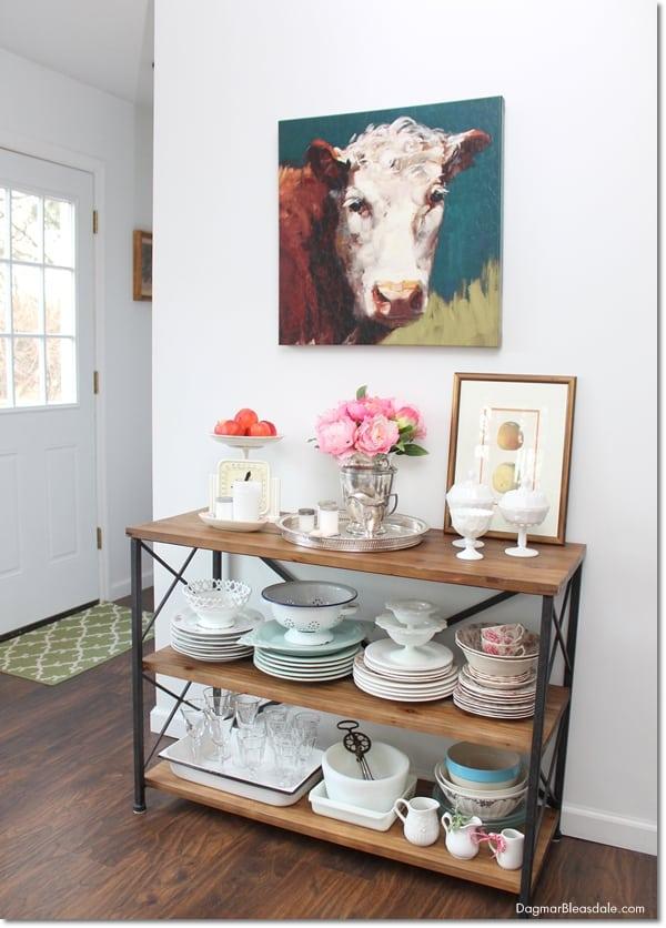 $60 rustic farmhouse console table, DagmarBleasdale.com