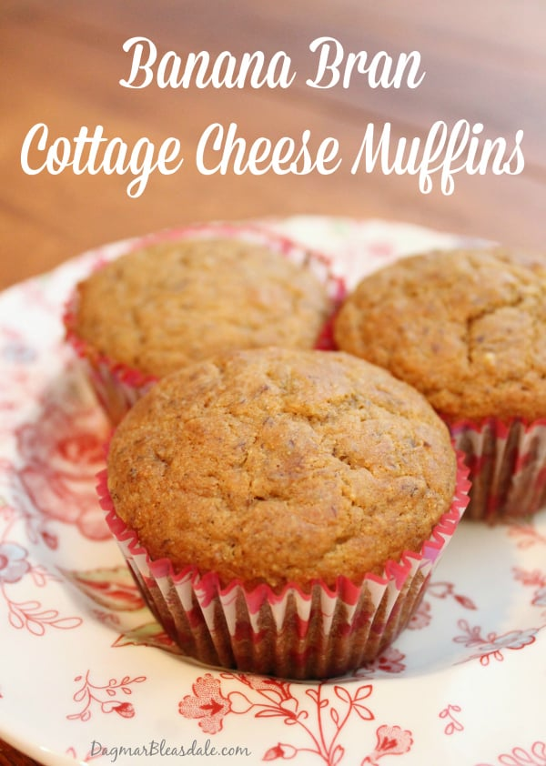 banana bran cottage cheese muffins, DagmarBleasdale.com