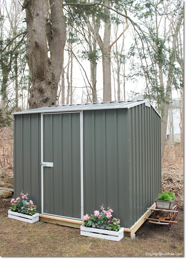 DIY Shed Adds Extra Storage Space to Our Blue Cottage