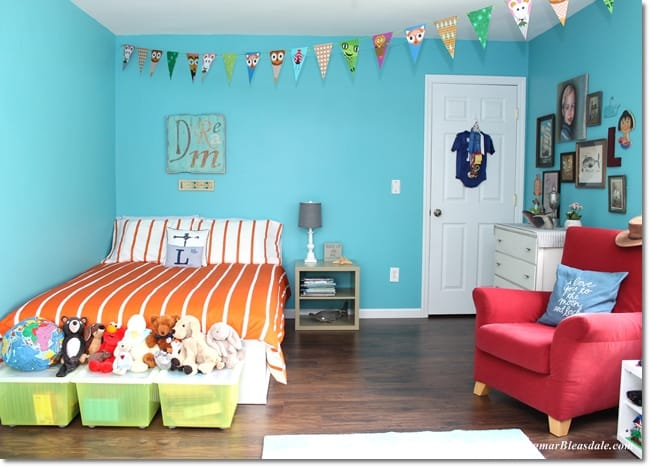 IKEA Bedroom Makeover of Landon's Turquoise Room