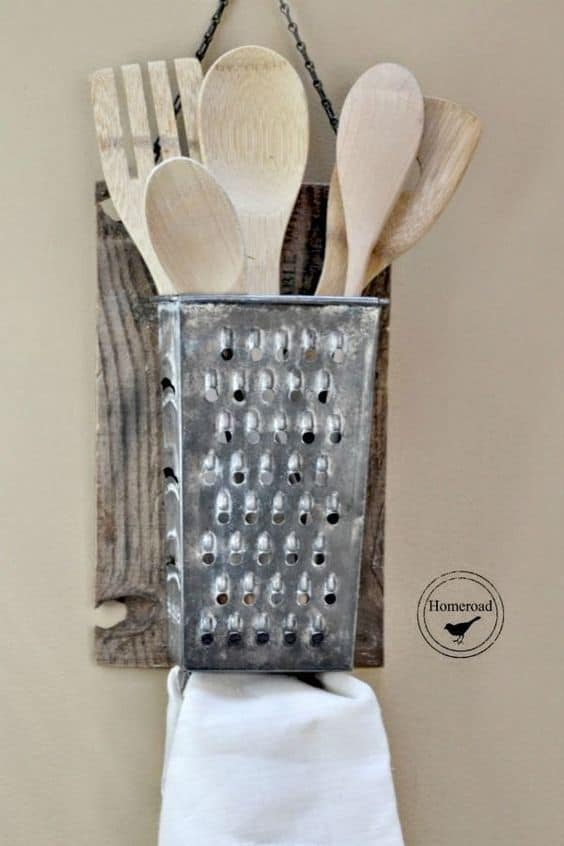 repurposed vintage grater