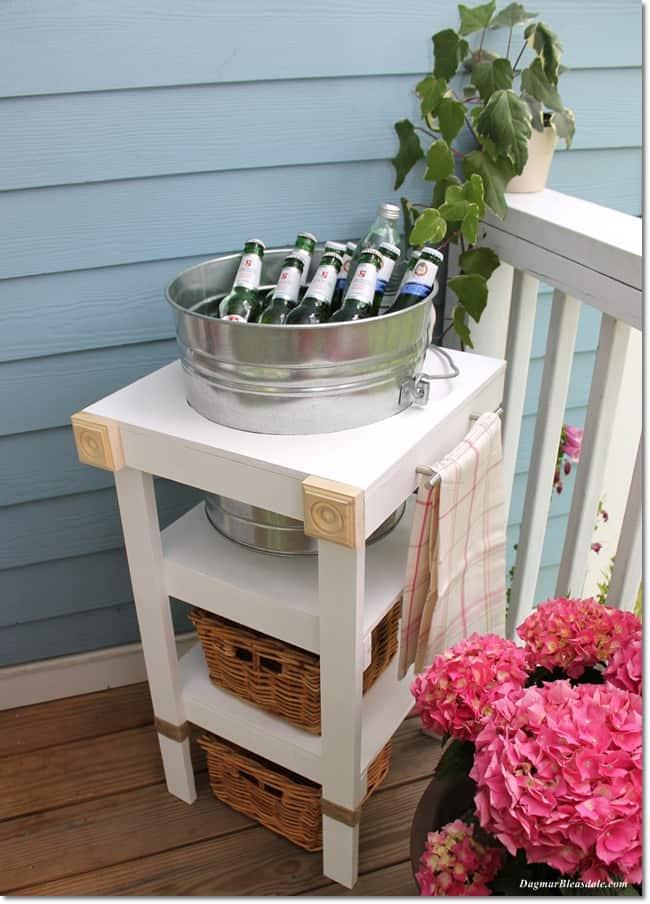 DIY beverage station tutorial, DagmarBleasdale.com