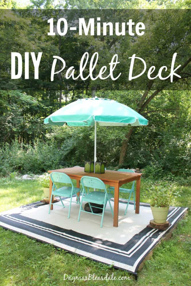 how to make a deck out of pallets