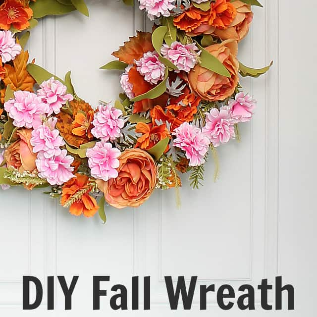 Make a Pretty DIY Fall Wreath out of a Spring Wreath
