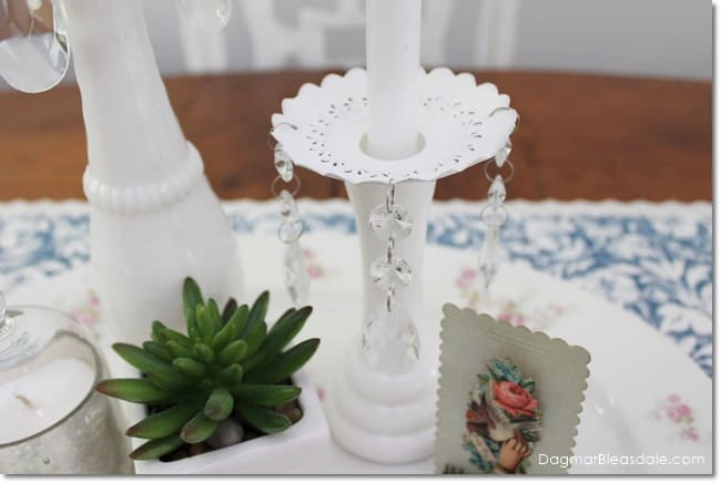 candle wax catchers with crystals