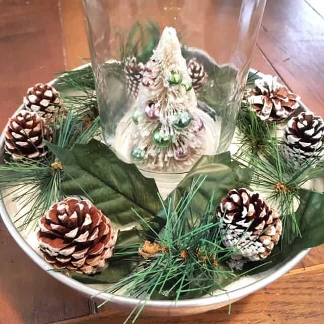 pie tin centerpieces, DagmarBleasdale.com