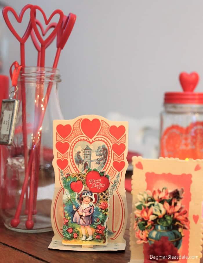 vintage Valentine's Day card, DagmarBleasdale.com