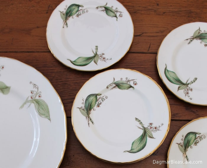 Royal Worcester lily of the valley plates RW72