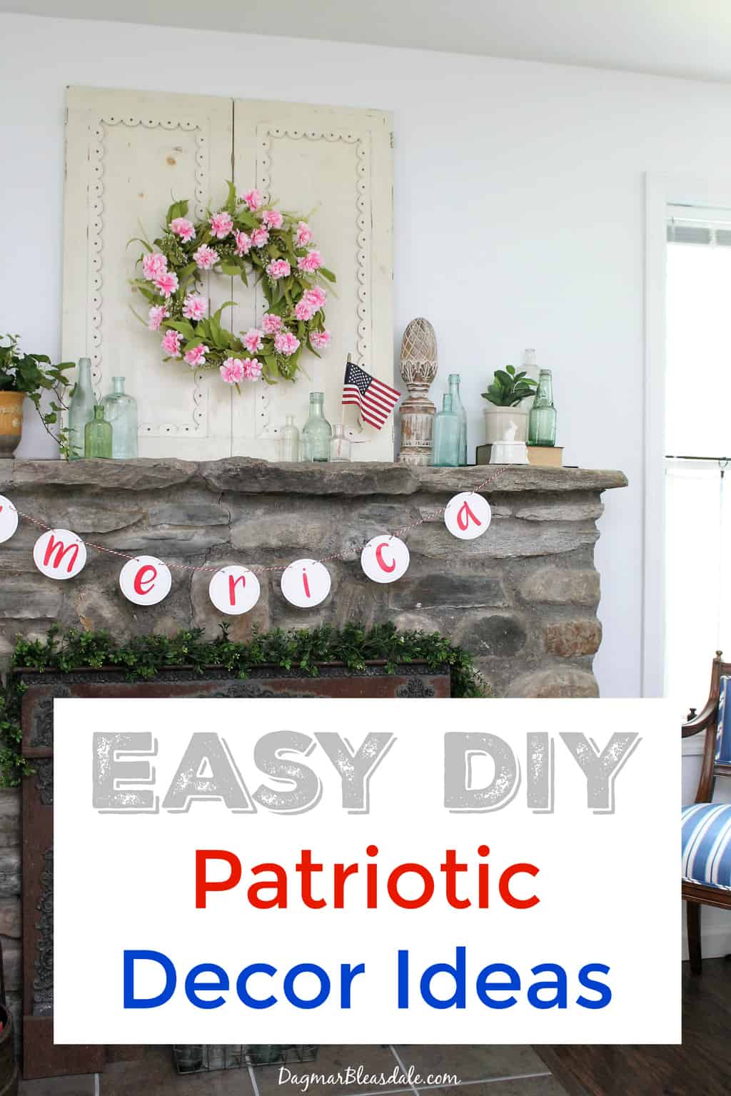 4th of july decorations banners flags and diy ideas for Mural decoration ideas