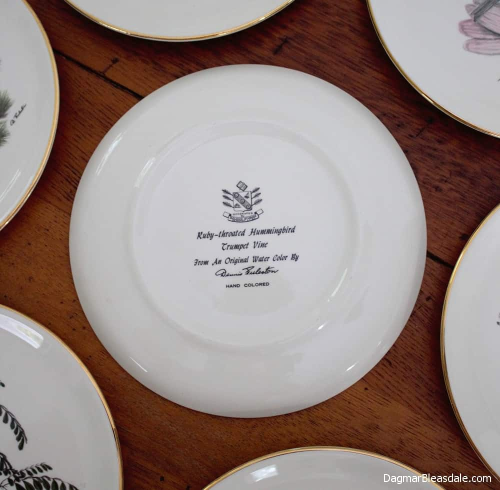 Delano Studios collectible bird plates designed from an original watercolor by Dennis Puleston.