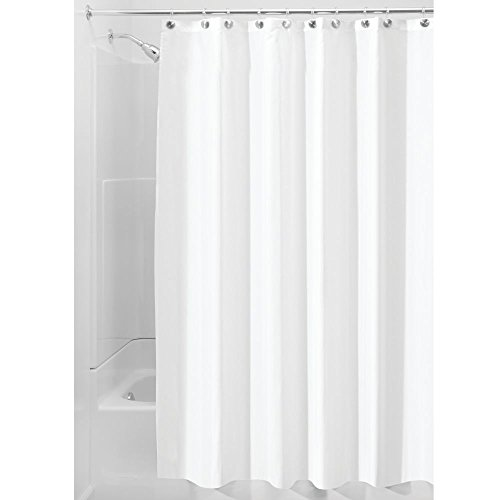 then it hit me why not use fabric shower curtain liners