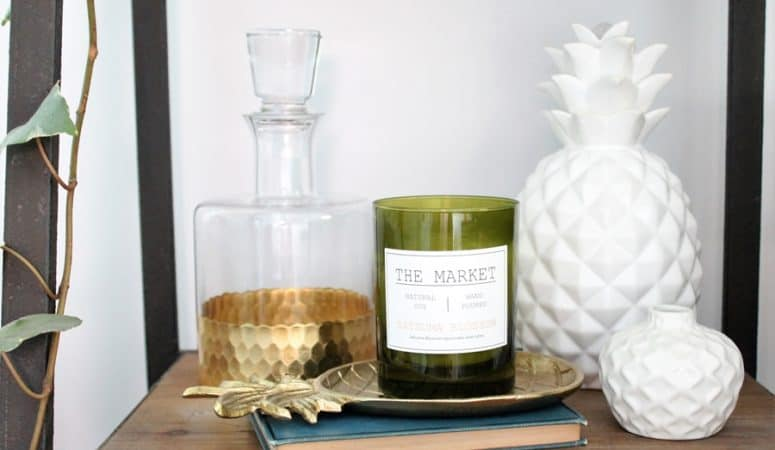 Dagmar's Home Link Party #182 – Gold Glass Decanter