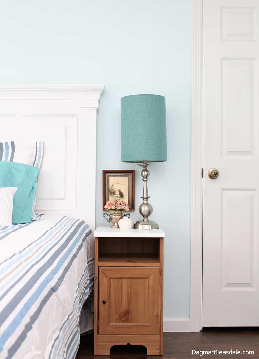 Bedroom paint color, best bedroom colors, blue, DagmarBleasdale.com, Baby blue bedroom color idea