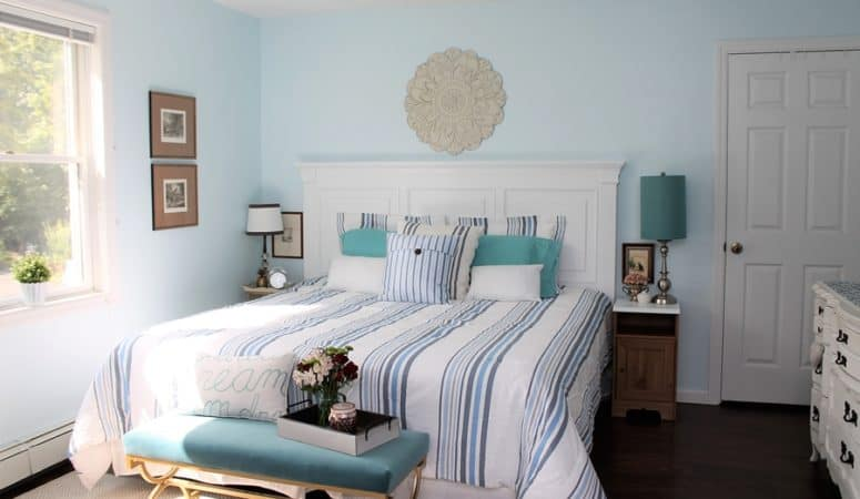 Painting Our King Size Headboard – DIY Bedroom Makeover