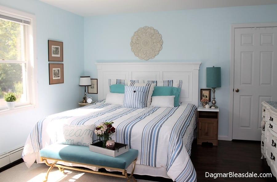 light blue bedroom, DagmarBleasdale.com