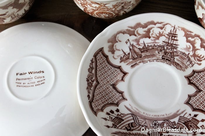 Alfred Meakin Fair Winds cup and saucer set