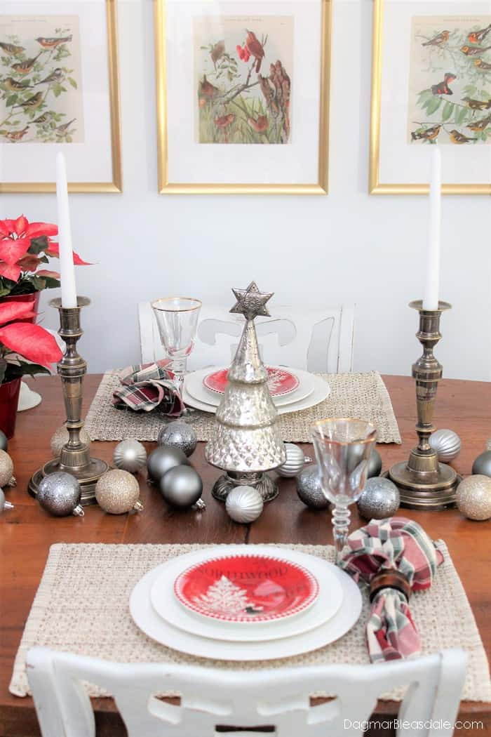Metallic Tablescape With Boscov's Holiday Decor