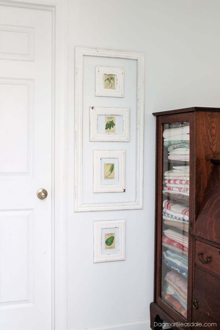 Seed packets decor