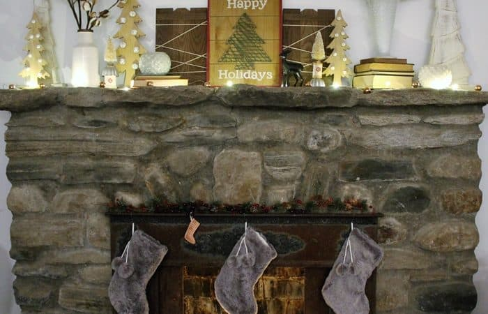 Faux Fur Christmas Stocking & Link Party #193