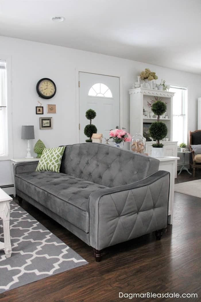 Novogratz Vintage Tufted Sleeper Sofa by DHP Furniture