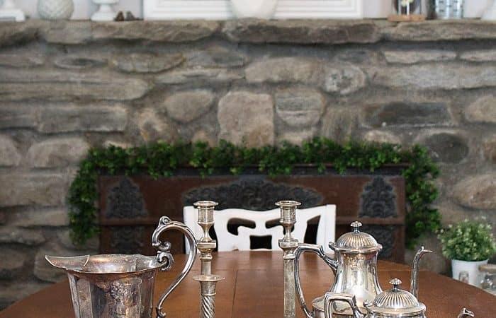 Hanging Herb Garden Idea, My Vintage Silver Haul & Link Party #210
