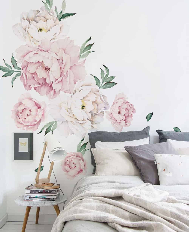 floral wallpaper, self-adhesive, DagmarBleasdale.com