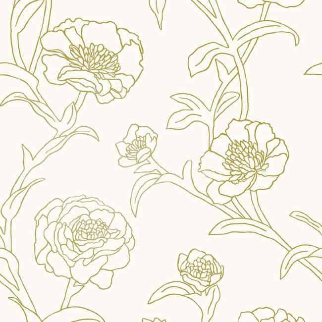 self-adhesive floral wallpaper